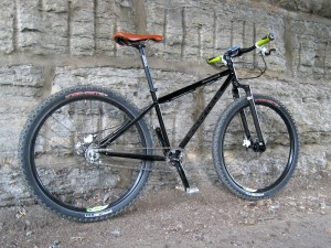 simplified 650b mountain bike